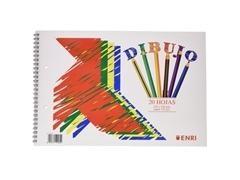 ENRI Bloc dibujo con margen en espiral