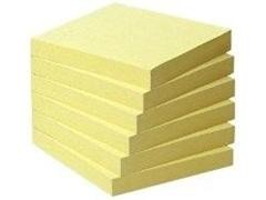 Pack mini-torre 6 cubos notas recicladas Post-it 654-1B 76x76mm