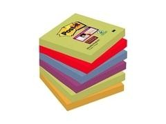 Pack 6 blocs 76x76 mm Notas Post-it  Super Sticky  Colección Nuevos Colores Nuevos Lugares, Marrakes