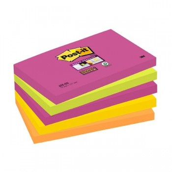 Post-it Pack 5 blocs Notas Post-it  Super Sticky Ne n Colecci n Nuevos Colores Nuevos Lugares, Cape