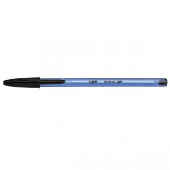 Bic Bolígrafo Bic Cristal Soft trazo medio negro