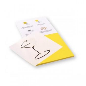 Rocada Bloc 100 notas reposicionables Skinny Notes con dos caras (amarilla y blanca) 125x125mm