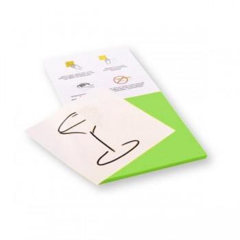 Rocada Bloc 100 notas reposicionables Skinny Notes con dos caras (verde y blanca) 125x125mm