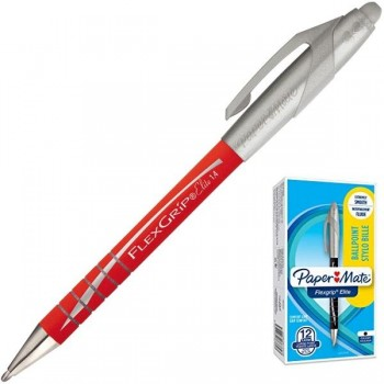 Bolígrafo retráctil Papermate flexgrip elite trazo 1,4mm rojo