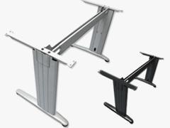 """EUROMOF Estructura metalica con patas en \""""T\"""" GRIS"""
