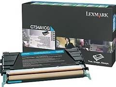 LEXMARK Toner laser C734A1CG cyan original 6k (retornable)