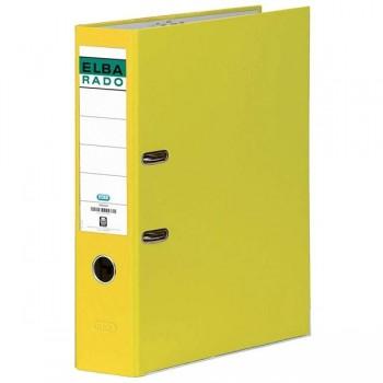 Archivador con rado Elba A4 80mm amarillo