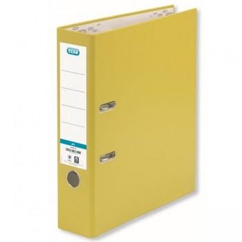 Archivador con rado forrado Elba folio 80mm amarillo