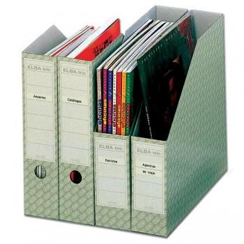 Pack 5 Revisteros cartón doble Elba 315x258x75mm