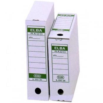 Caja archivo definitivo Elba folio 100mm blanco