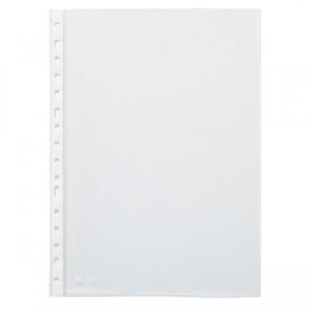 Caja 100 Fundas Portadocumentos pp economicas muliTaladro folio transparentes