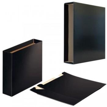 Caja para Archivador cartón folio lomo 75mm negro