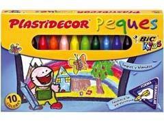 PLASTIDECOR Cera PEQUES caja 12 colores