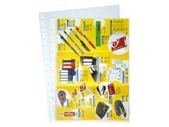 Caja 100 fundas portadocumentos pp calidad estándar 16 taladros folio transparente