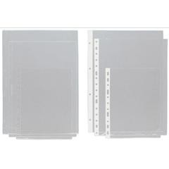 Caja 100 Fundas planos PVC con rebaje superior 4 Taladros A3 transparente