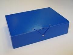 Carpeta Proyectos cierre gancho lomo 5cm azul