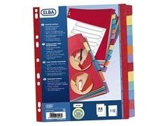 Separador multiTaladro pp flexible 10h folio 315x230mm