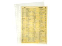 Caja 100 fundas portadocumentos pp económica uso esporádico 16 taladros folio transparente