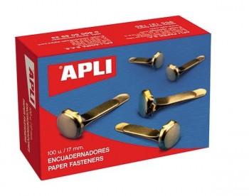 Caja 100 encuadernadores con arandela APLI 50mm