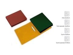 Carpeta 2 anillas mix 40mm folio cartón verde