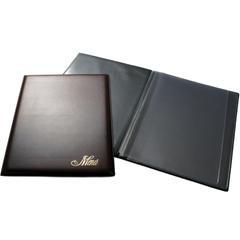GRAFOPLAS Portamenús pvc folio negro 2 fundas