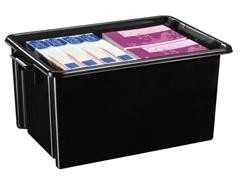 Caja multiuso ideal en orden apilable sin tapa 2 asas capacidad 48,5l medidas 395x610x285mm poliprop