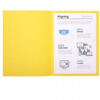 Pack 100 subcarpetas Foldyne  Exacompta 180gr 24x32cm   color amarillo canario