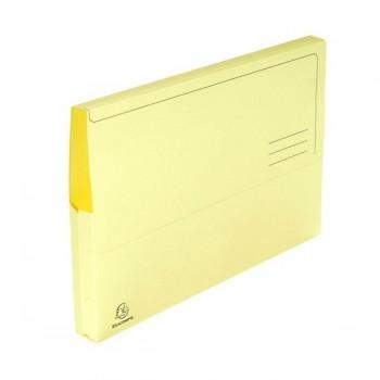 Pack 10 subcarpetas con bolsa Exacompta 220gr 24x32cm color amarillo
