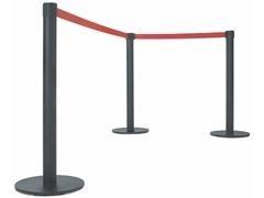 PS Postes separador de cinta extensible retractil NEGRO (p)95x34cm (c)3,7m AZUL
