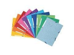 Pack 10 carpetas con gomas y 3 solapas Nature Future scotten 400gr colores surtidos