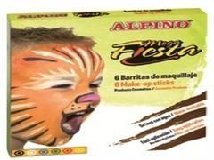 ALPINO Estuche de maquillaje 6 colores 15gr. Mega fiesta