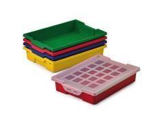 Caja Faibo para almacenaje con tapa 420x310x73 mm colores surtidos