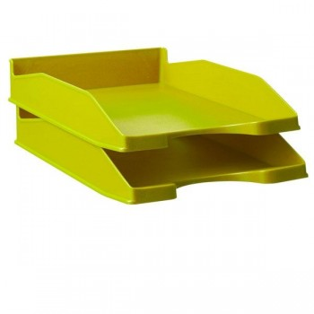 Bandeja Fondo liso apilable en 3 posiciones color verde