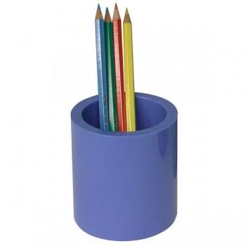 Portalápices redondo 7,5x10,5cm color azul