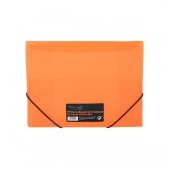 Carpeta gomas y solapas Frame tamaño A4 color naranja