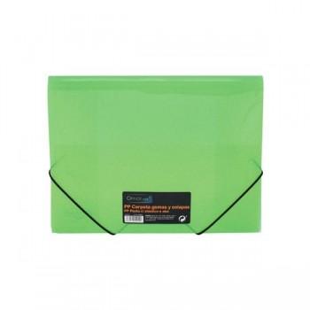Carpeta gomas y solapas Frame tamaño A4 color verde