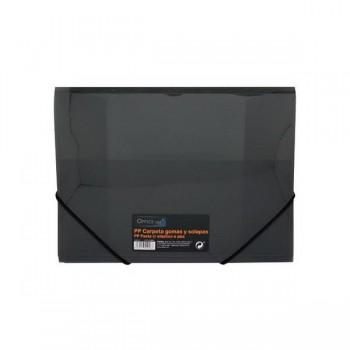 Carpeta gomas y solapas Frame tamaño A4 color negro