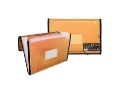 Carpeta Frame fuelle 13 bolsillos A4 color naranja