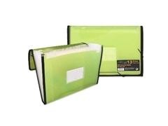 Carpeta Frame fuelle 13 bolsillos A4 color naranja verde