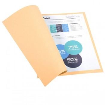 Pack de 100 subcarpetas de cartulina FOREVER 250 (240 gr.) crema
