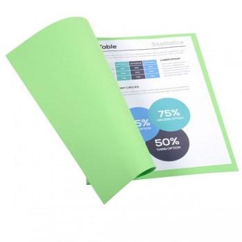 Pack de 100 subcarpetas de cartulina FOREVER 250 (240 gr.) verde prado