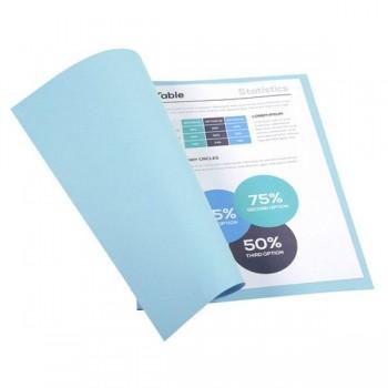 Pack de 100 subcarpetas de cartulina FOREVER 250 (240 gr.) azul claro