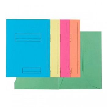 Pack de 50 subcarpetas impresa de cartulina 2 solapas SUPER 250 (210 gr.) 5 colores surtidos