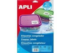 APLI Etiqueta l/c adh.resist. frio c/recto a4 c-10 (63,5x38,1mm)