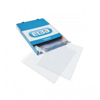 ELBA Caja 100 fundas portadocumentos cristal Elba 16 taladros folio