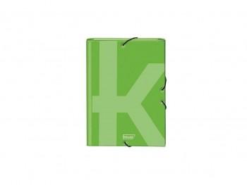 Dohe Carpeta gomas y 3 solapas Ksual Folio verde