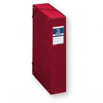 Dohe Caja de proyectos cartón forrado lomo de 50mm con etiqueta Rojo