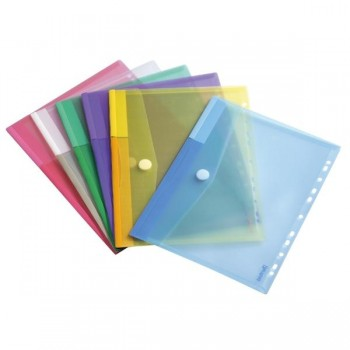 Tarifold Paquete 12 sobres PP con taladro A4 colores surtidos