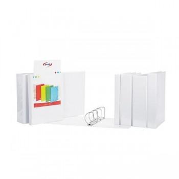 Carpeta canguro Pardo 4 anillas mixtas 16mm A4 blanco