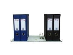 Módulo 2 archivadores palanca Pardo refuerzo metálico en cantos 70mm 350X180X300mm negro